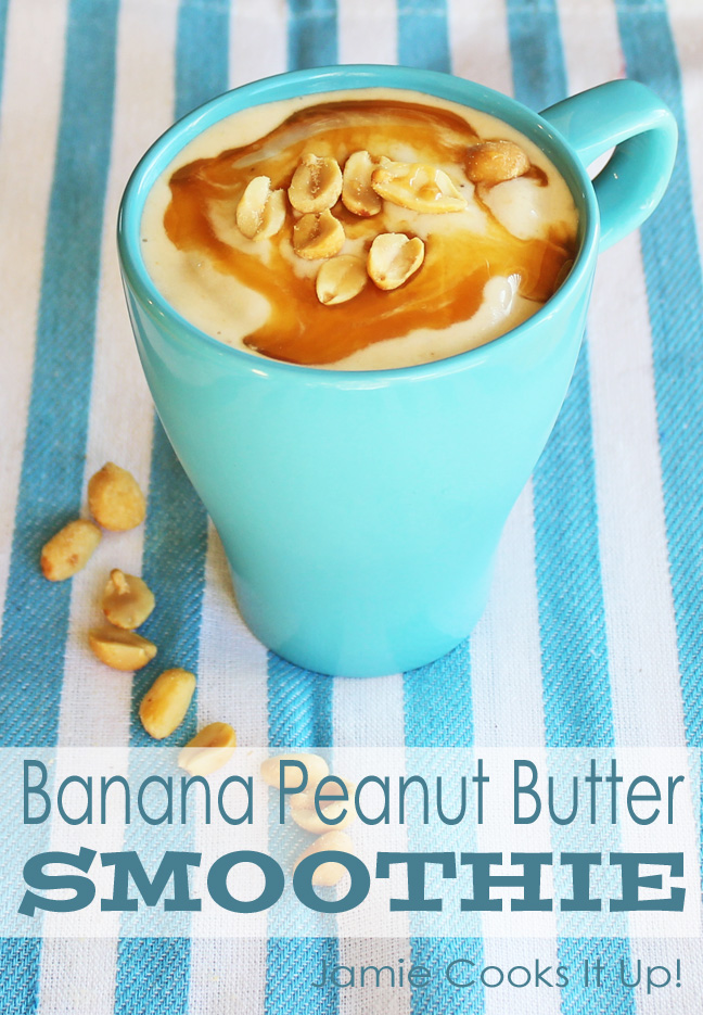 Banana Peanut Butter Smoothie from Jamie Cooks It Up!