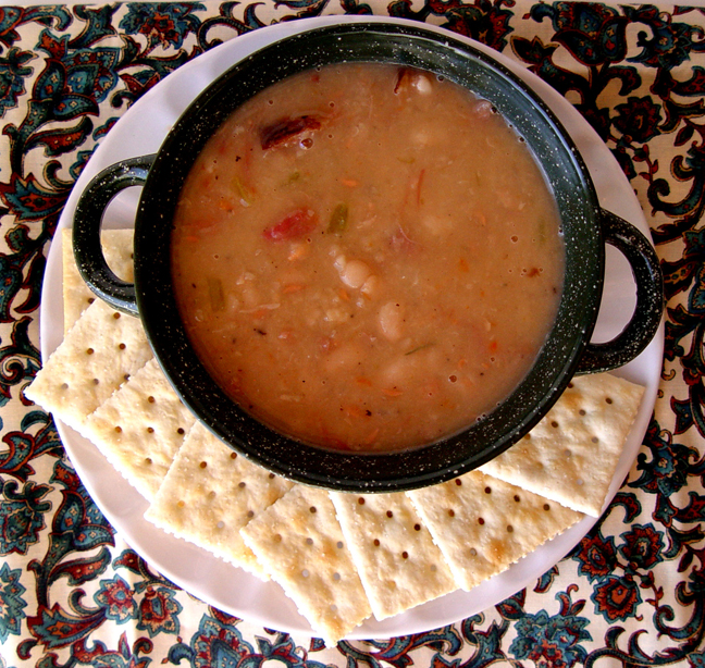 Bean and Ham Soup from Jamie Cooks It Up!