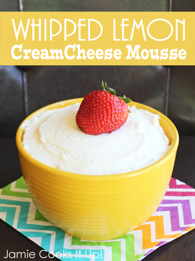 Whipped Lemon Cream Cheese Mousse