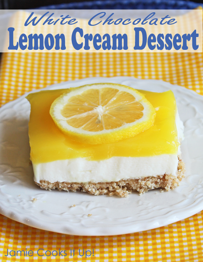 White Chocolate Lemon Cream Dessert