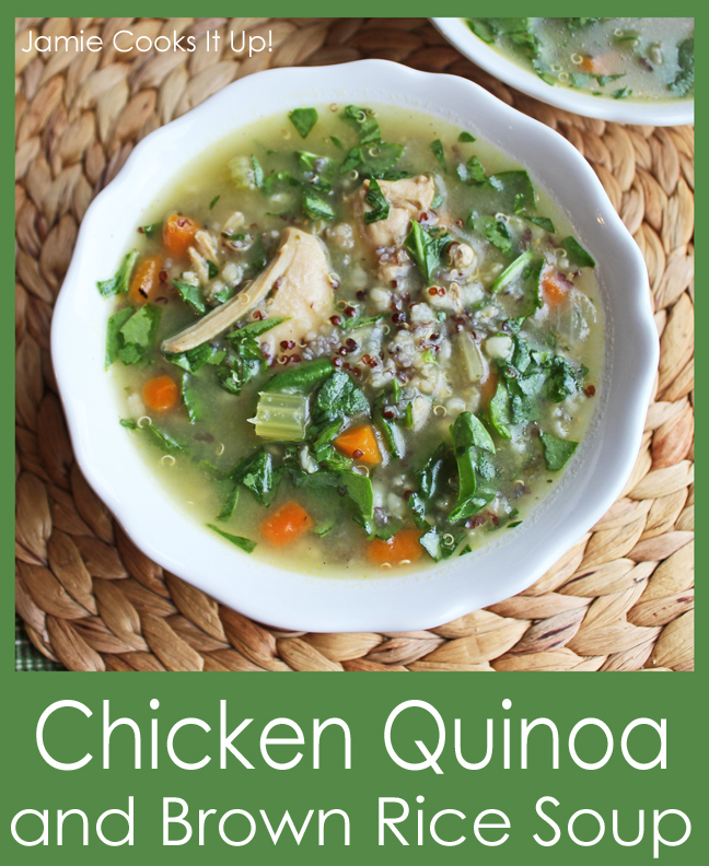 Chicken Quino and Brown Rice Soup!