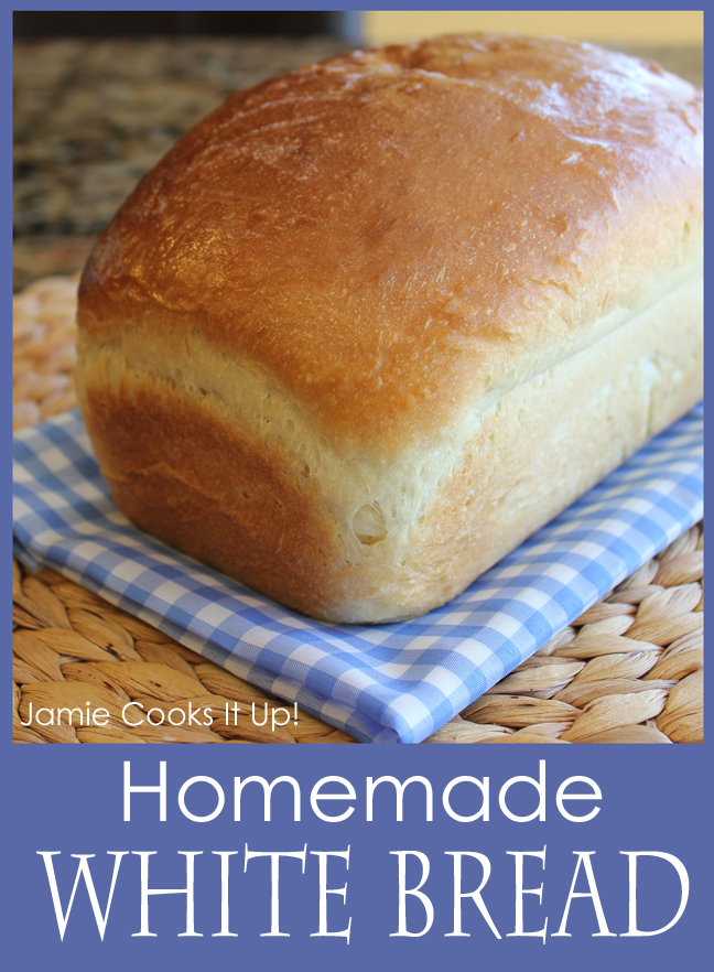 Homemade White Bread from Jamie Cooks It Up!
