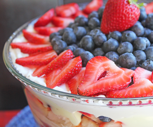 5 ingredient Lemon Berry Trifle from Jamie Cooks It Up!