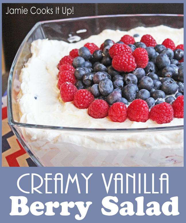 Creamy Vanilla Berry Salad from Jamie Cooks It Up!