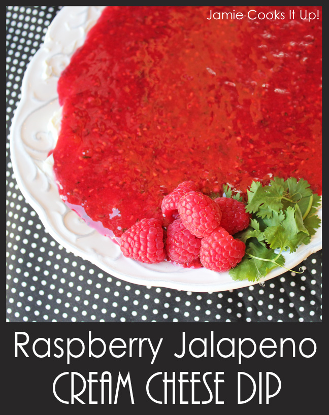 Raspberry Jalapeno Cream Cheese Dip