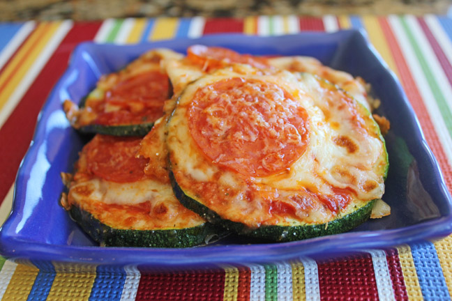 Pepperoni and Cheese Zucchini Bites