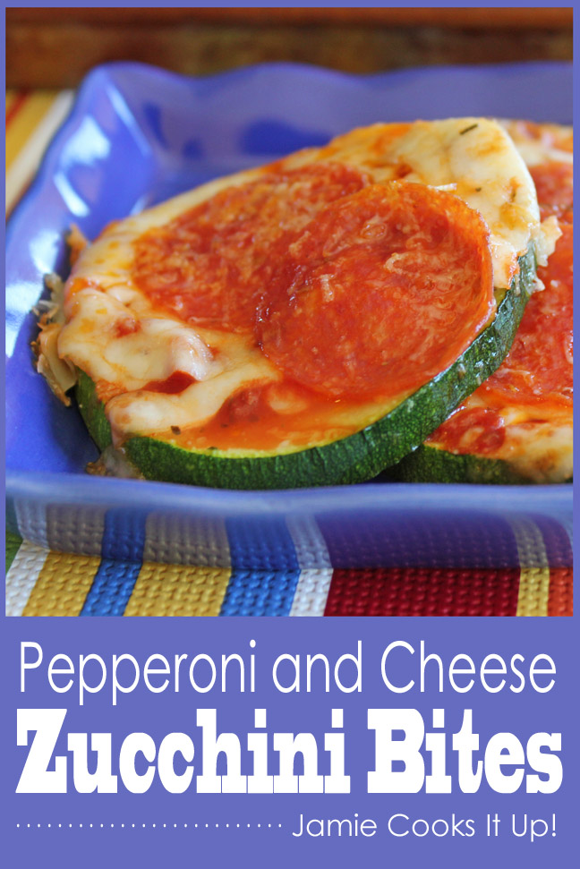 Pepperoni and Cheese Zucchini Bites from Jamie Cooks It Up!