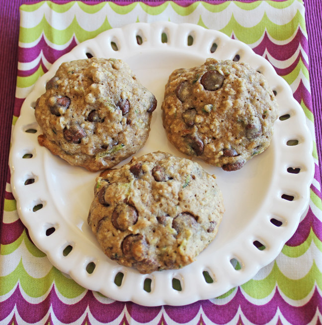 Zucchini Oatmeal Chocolate Chip Cookies