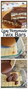 Easy Homemade Twix Bars for Pinterst