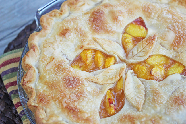 Fresh Peach Pie from Jamie Cooks It Up!