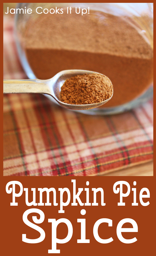 Pumpkin Pie Spice from Jamie Cooks It Up!!