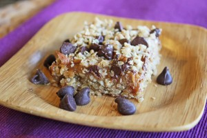Chocolate Caramel and Oat Bars