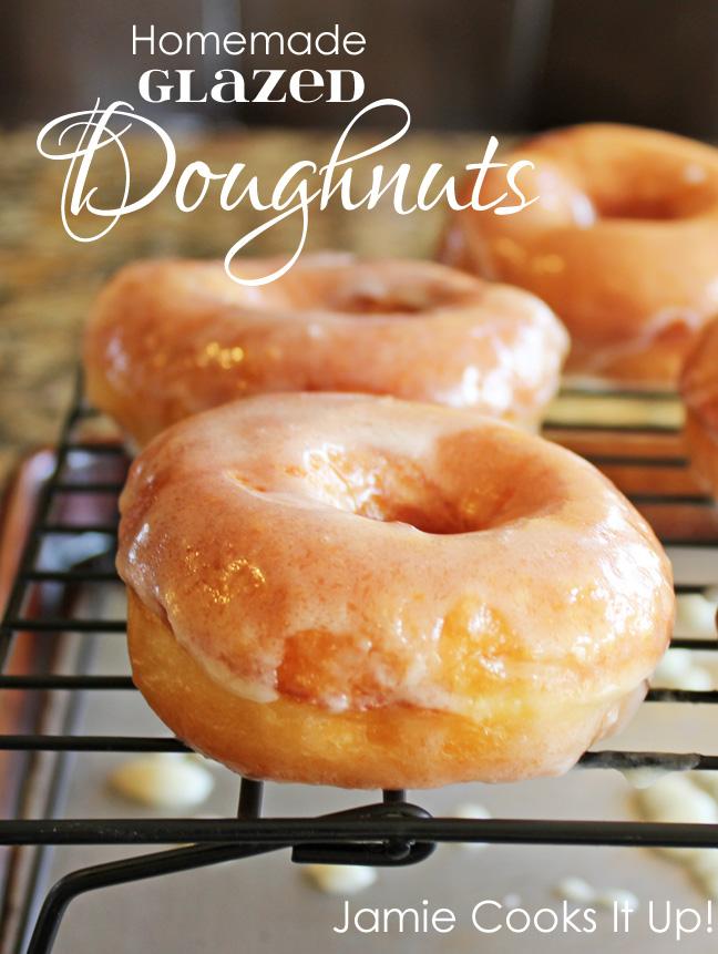 Homemade Glazed Doughnuts Jamie Cooks It Up!!