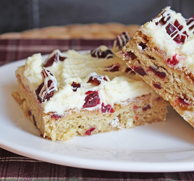 Cranberry Orange Bliss Bars from Jamie Cooks It Up!!