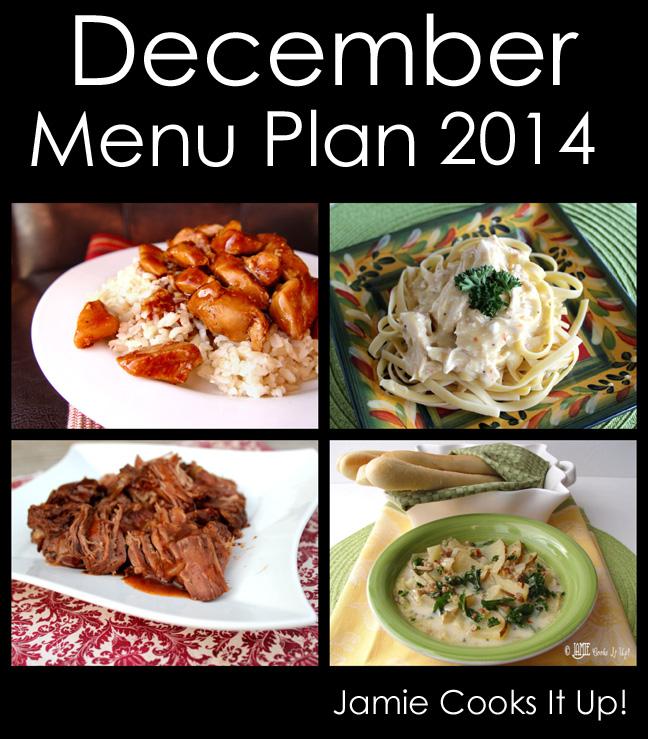 December Menu Plan 2014
