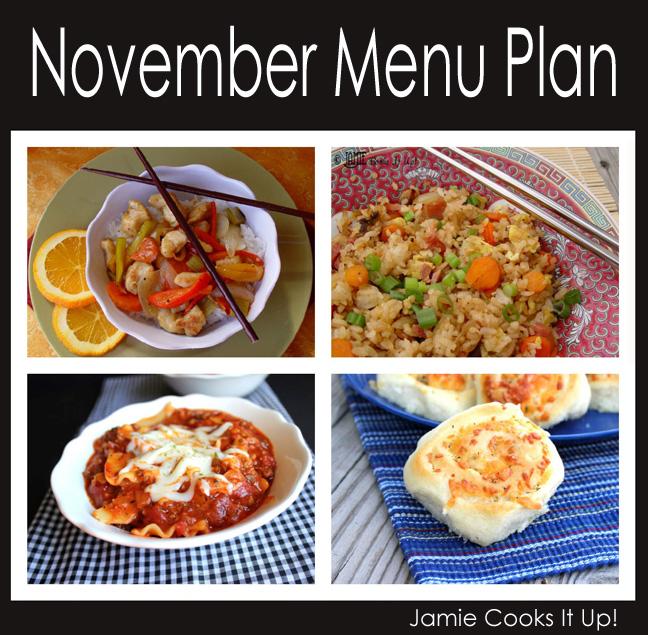 November Menu Plan 2014