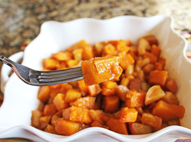 Roasted Maple Butternut Squash and Apples