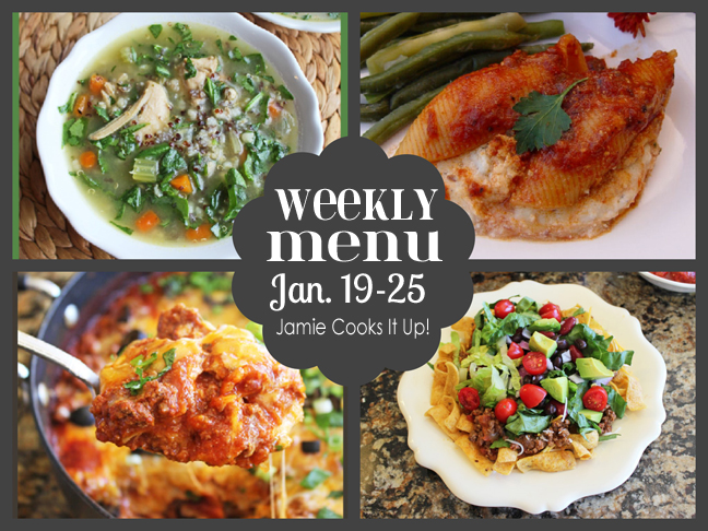 Weekly Menu, Jan. 19-25