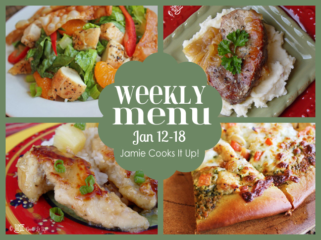 Weekly Menu Plan, Jan 12-18