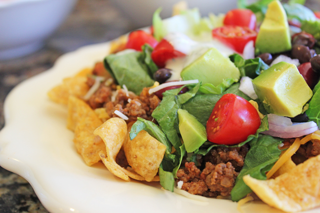 Taco Salad (Build Your Own) from Jamie Cooks It Up!!