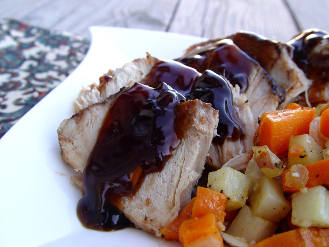 Balsamic and Brown Sugar Glazed Pork Roast