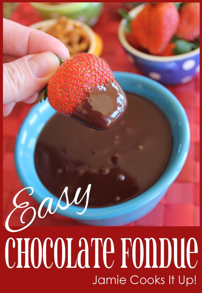 Easy Chocolate Fondue Jamie Cooks It Up!