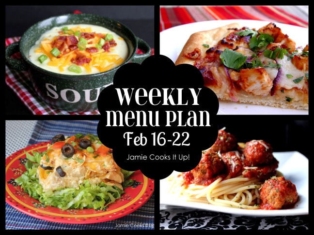 Weekly Menu: Feb. 16-22