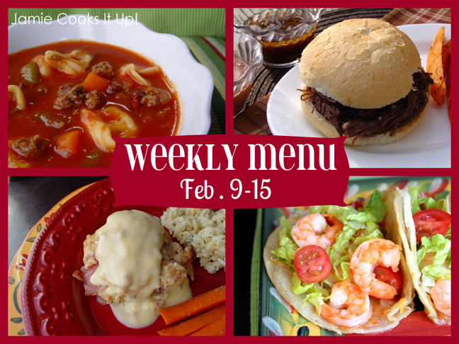 Weekly Menu Plan Feb 9-15 and a few Valentines Day Recipes