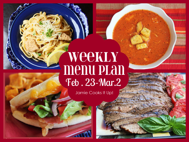 Weekly Menu Plan Feb.23-Mar.1