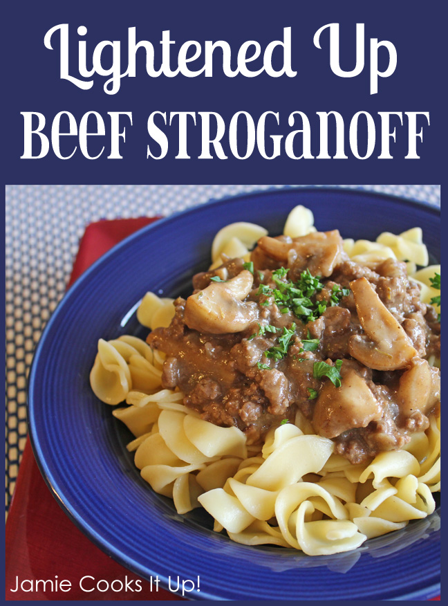 Light Beef Stroganoff from Jamie Cooks It Up!