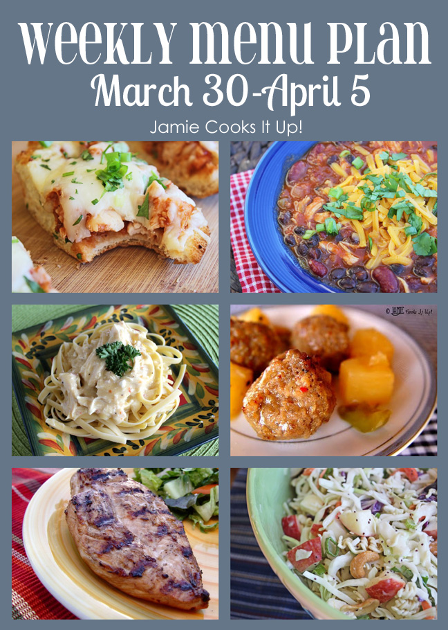 Weekly Menu Plan: March 23- April 5 and EASTER RECIPE IDEAS