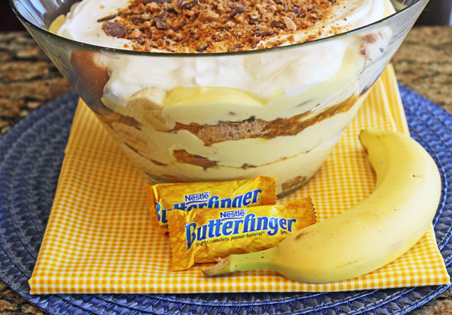 Butterfinger Banana Pudding