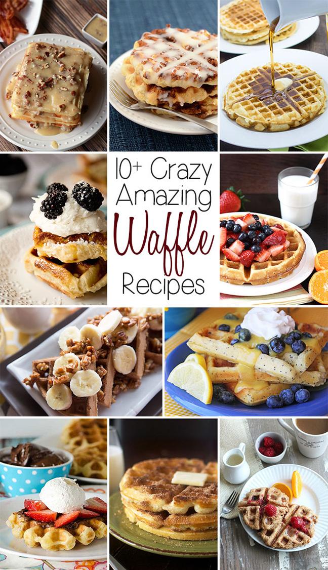 Celebrating Food Waffle Colage