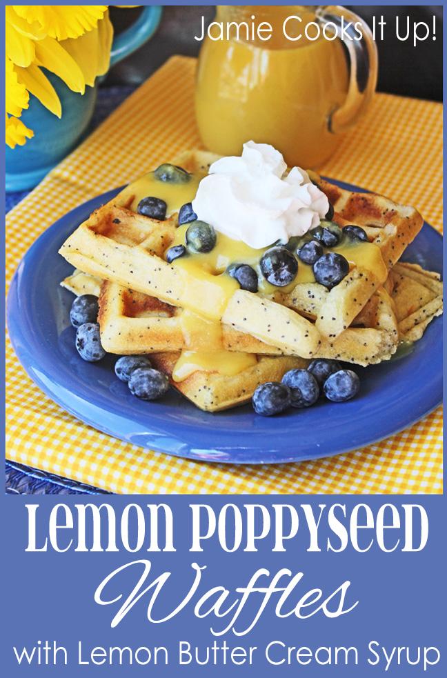 Lemon Poppy Seed Waffles from Jamie Cooks It Up!