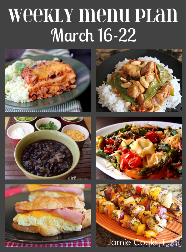 Weekly Menu Plan March 16-22 and a sad story