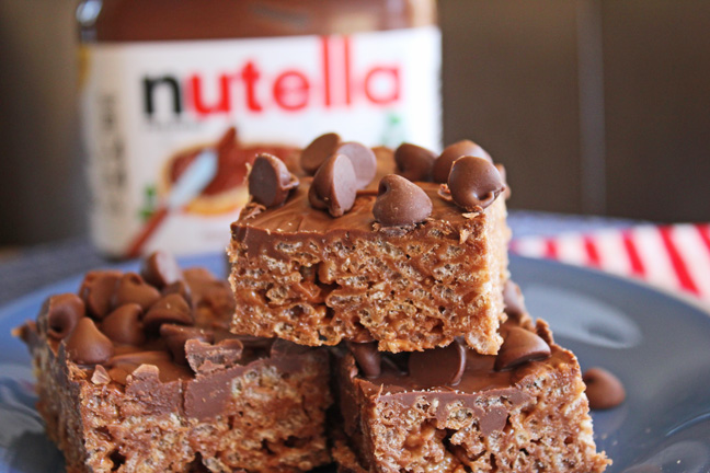 Nutella Krispie Treats