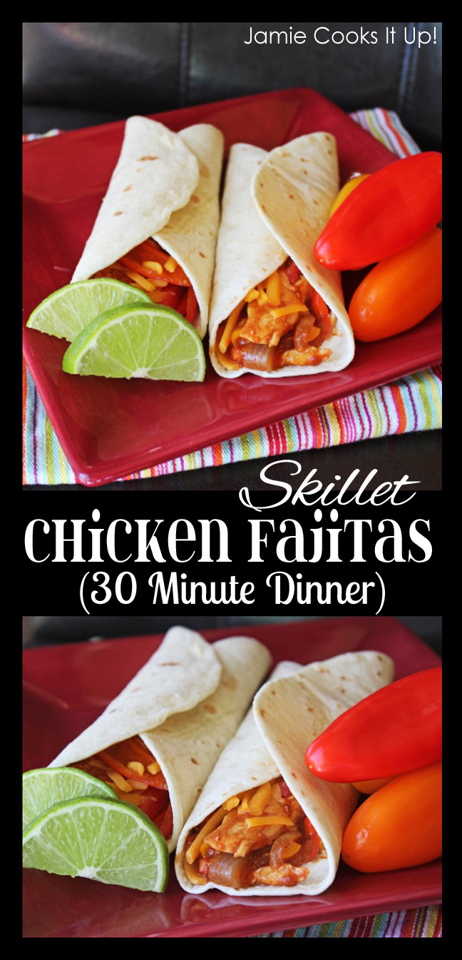 Skillet Chicken Fajitas (30 Minute Dinner)