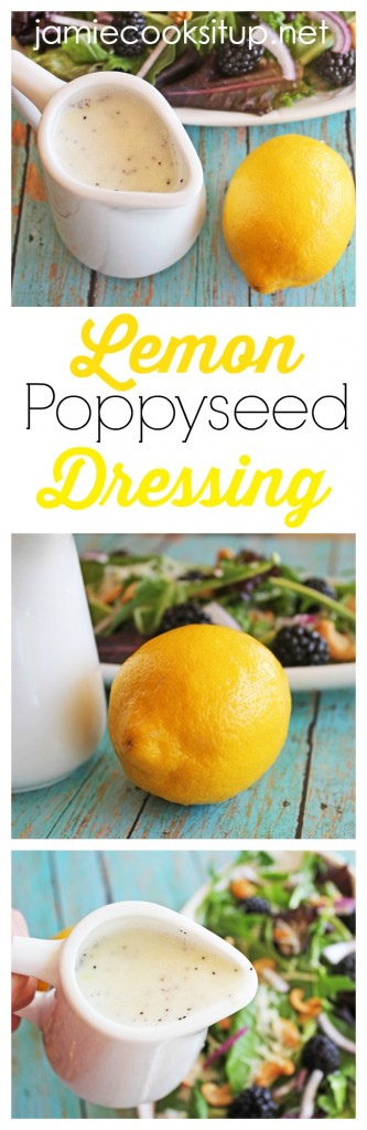 Lemon Poppyseed Dressing  I  Jamie Cooks It Up!