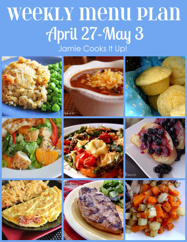 Weekly Menu Plan: April 27-May 3