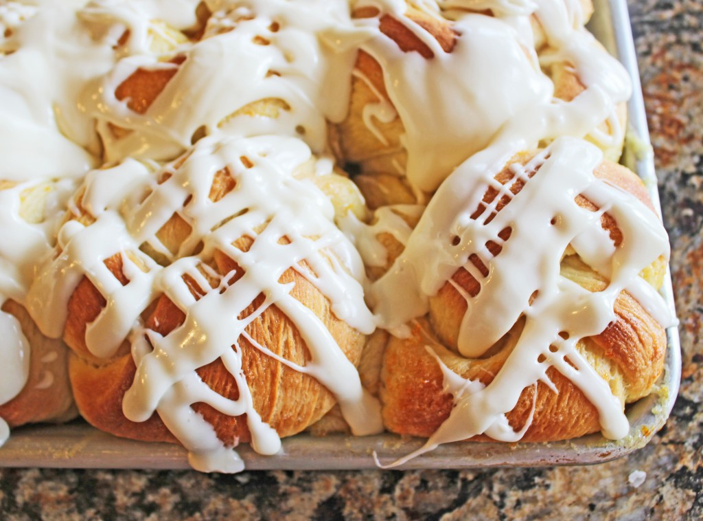 Orange Rolls with Cream Cheese Icing from Jamie Cooks It Up
