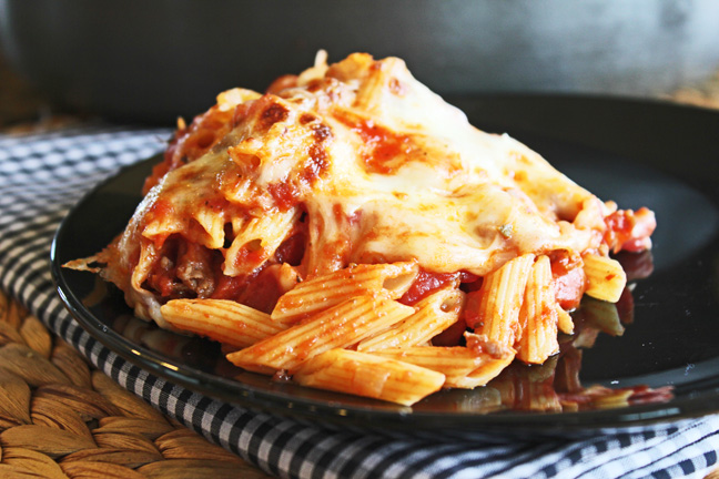 30 Minute Penne Pasta with Hearty Meat Sauce