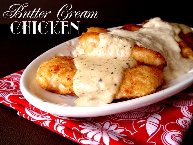 Butter Cream Chicken from Jamie Cooks It Up!