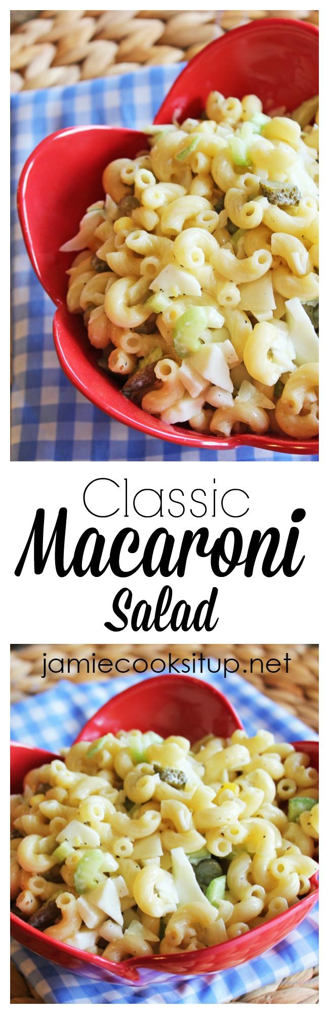 Classic Macaroni Salad at  Jamie Cooks It Up