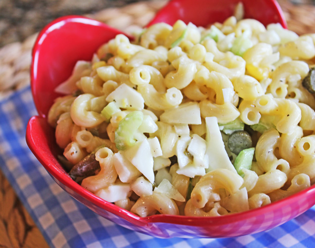 Classic Macaroni Salad from Jamie Cooks It Up!