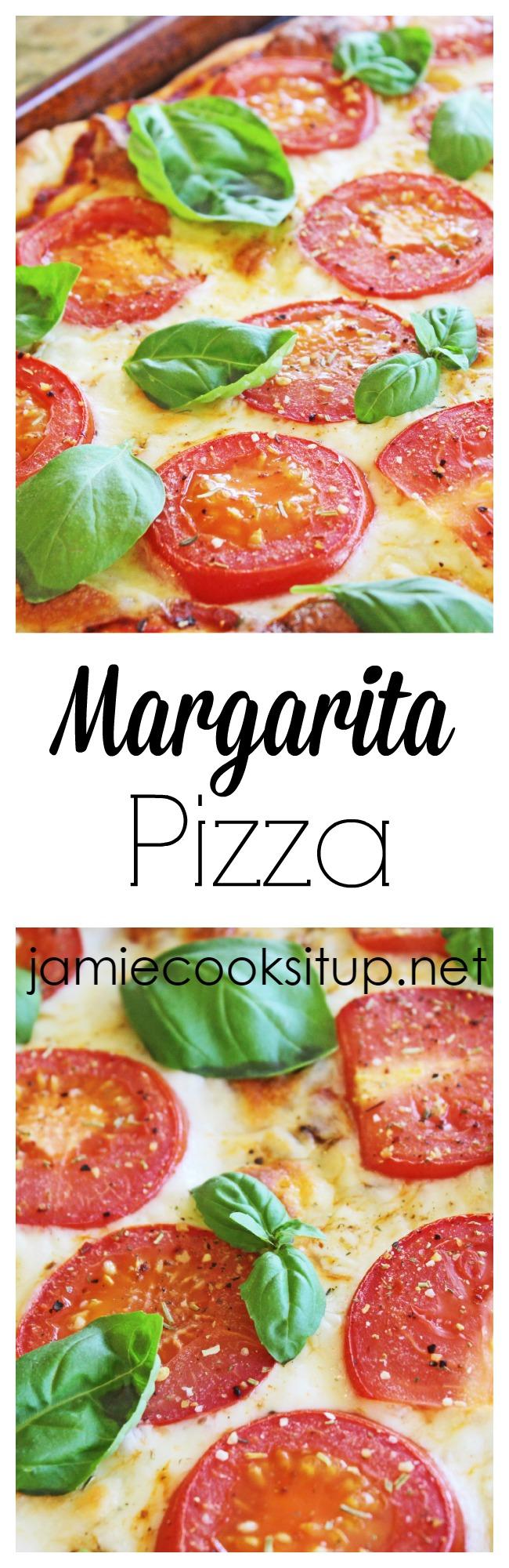 Margarita Pizza at Jamie Cooks It Up!