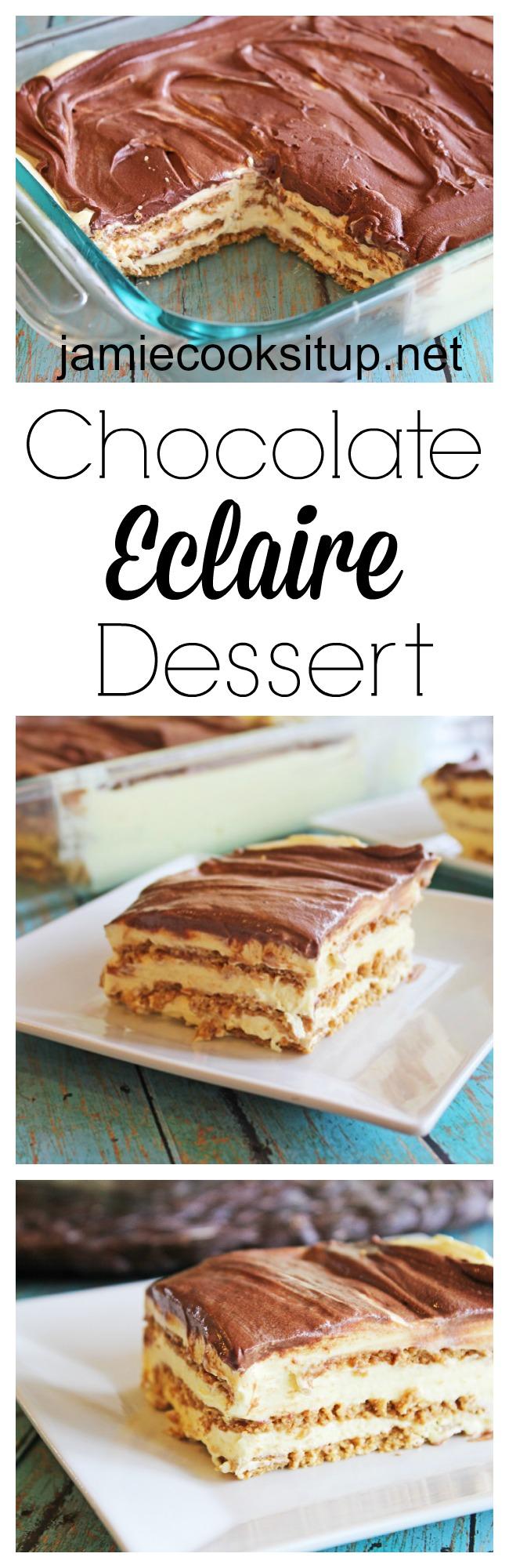 Chocolate Eclair Dessert at Jamie Cooks It Up