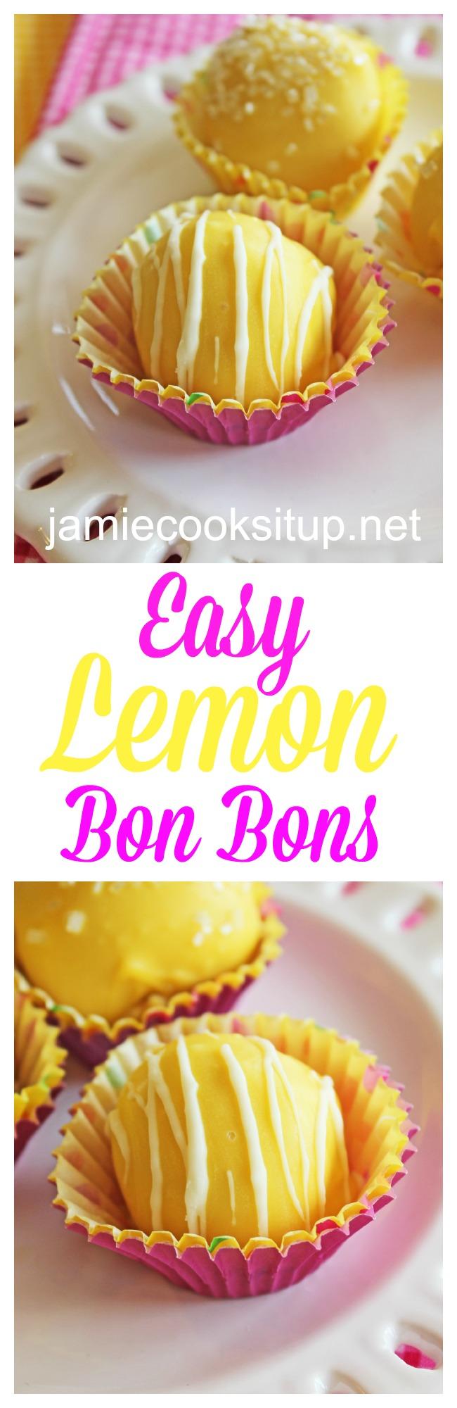 Easy Lemon Bon Bons at Jamie Cooks It Up!
