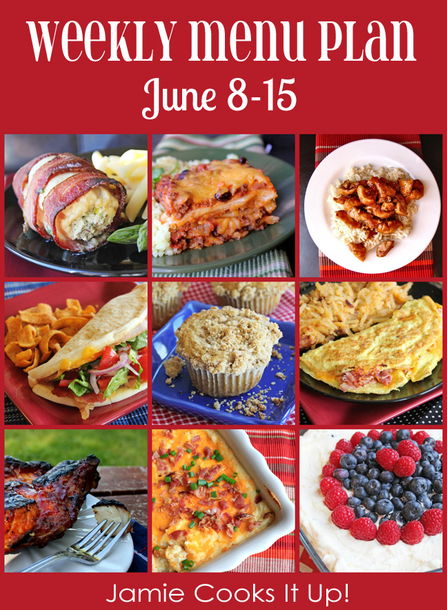Weekly Menu Plan: June 8-15