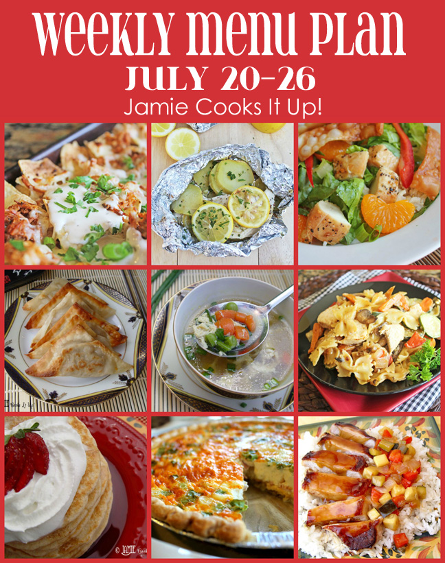 Weekly Menu Plan: July 20-26