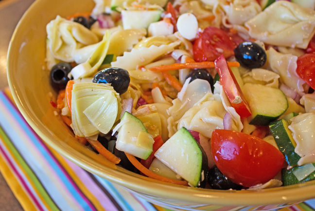 Italian Tortellini Salad from Jamie Cooks It Up!